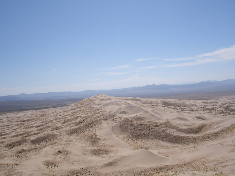 Looking southwest from the top of Kelso Dunes.