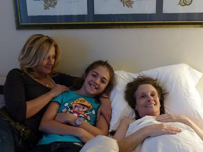 Amanda, her daughter Kaiya, and my mum