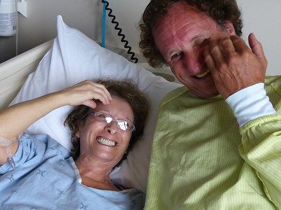 My mum's dear brother arrives from BC to see her in the hospital
