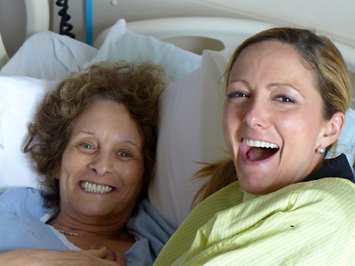 Amanda and my mum sharing a laugh