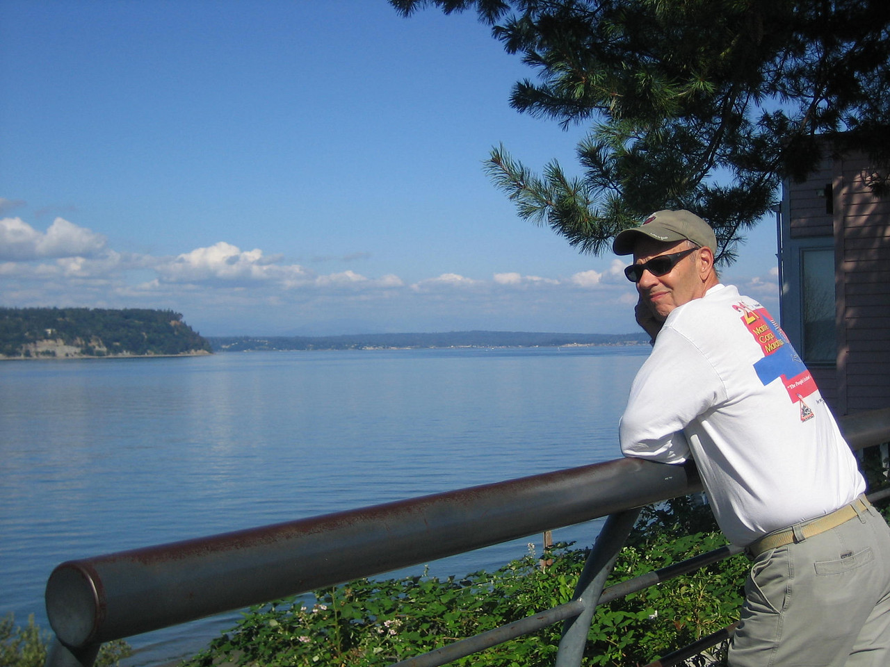 Bob enjoying the view on Whidbey Island