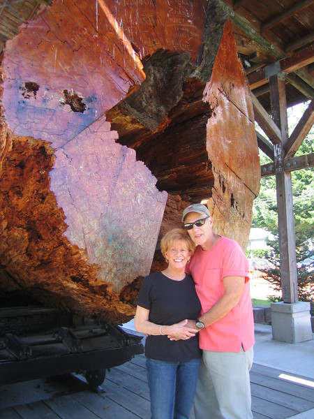 Mom, Bob & very large log at Snoqualmie Days