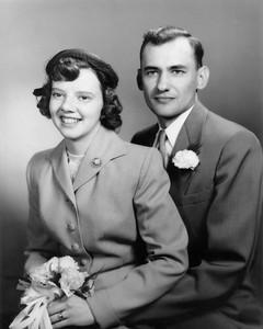 1954 March 27 Mom & Dad Wedding Portrait