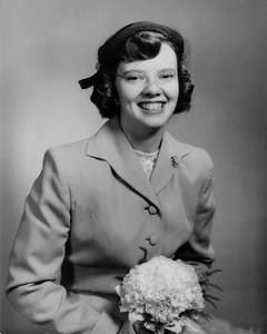 1954 March 27 Mom Wedding Portrait