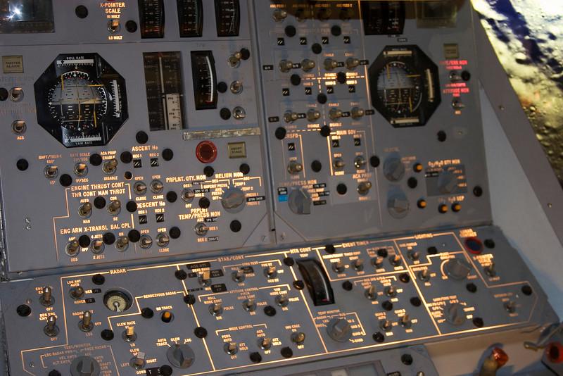Lunar Excursion Module (LEM) Cockpit, Space Center Houston, February 2008