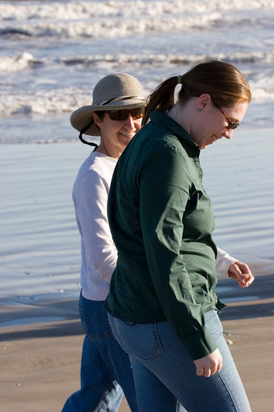 Myra & Michaela, Galveston Island State Park, February 2008
