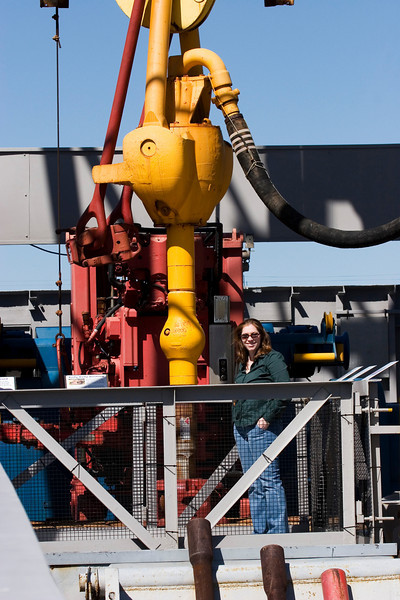 Michaela at Energy Star Oil Rig Museum, Galveston, February 2008