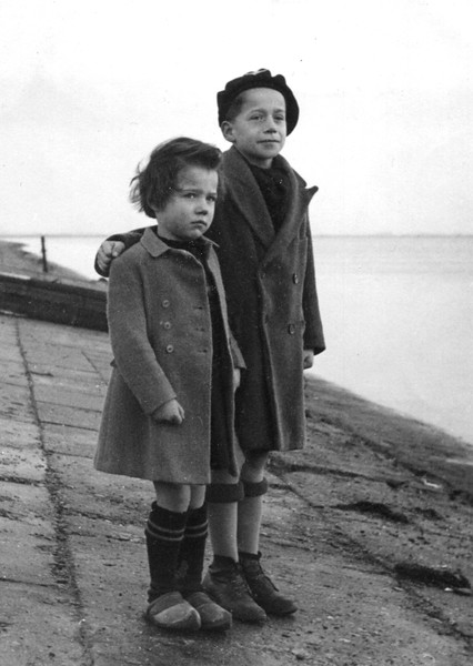 Jana and Patrick. Westerland, Isle of Sylt. 1948