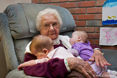 Two more great-grandkids; Carolyn and Elizabeth