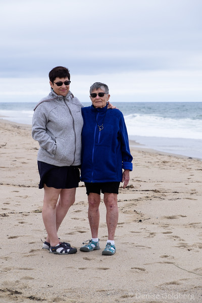 Suze and Mom at Race Point Beach, Cape Cod National Seashore