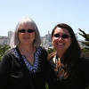 Mom and Timber at the Coit Tower.