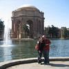 Timber and Tom at the Palace of Fine Arts.