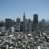 A look at the San Francisco skyline from the Coit Tower.