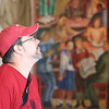 Tom looking at one of the Murals.