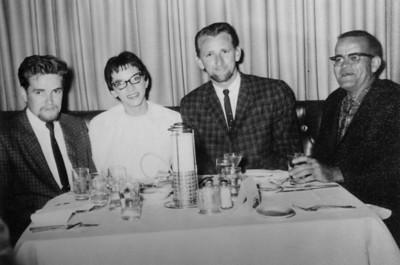 Larry Jones and Priscilla Swain,  Clifford Taylor, Bill Shaw, Las Vegas 1961