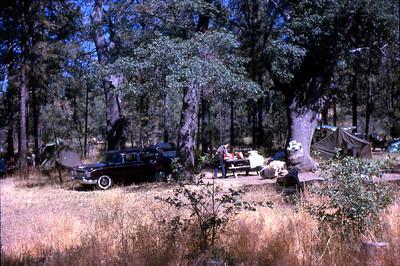 camping in Laguna Mountains near San Diego, Californai circa 1964