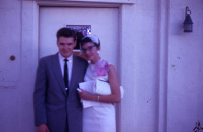 Larry and Priscilla Jones, wedding October 14, 1961