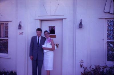 Larry and Priscilla Jones, wedding day October 14, 1961
