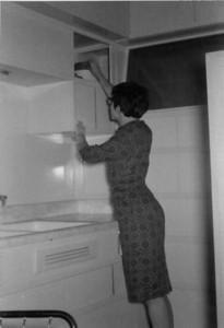 Priscilla Jones, first apartment Thomas Street, San Diego, California 1961