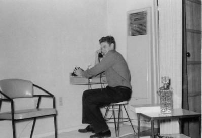 Larry Jones, apartment on Thomas Street, San Diego, California 1961