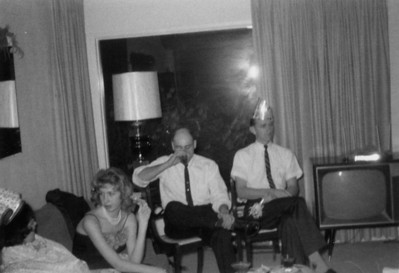 Sally Taylor, Paul ?, and Cliff Taylor, New Year's eve 1962