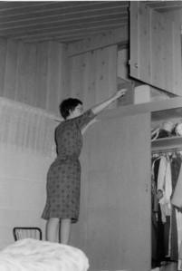 Priscilla Jones, first apartment  Thomas Street San Diego, California 1961