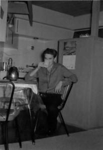 Larry Jones, first apartment, Thomas Street, San Diego, California 1961