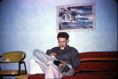 Larry Jones, apartment on Thomas Street, San Diego, California  1962