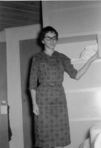 Priscilla Jones   Larry and Pris's first apartment, Thomas Street, San Diego, California 1961