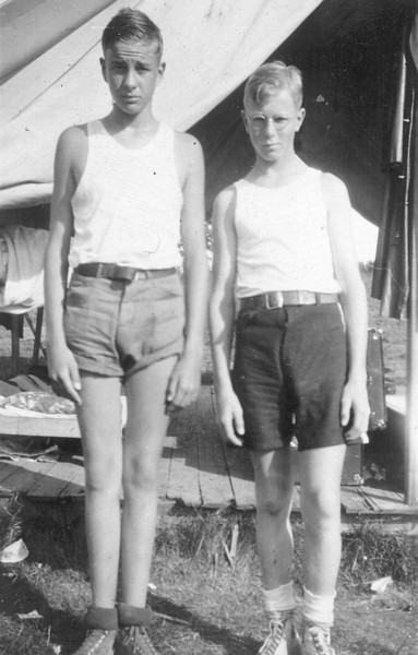 Ted Harmes and Bud Britton 1930