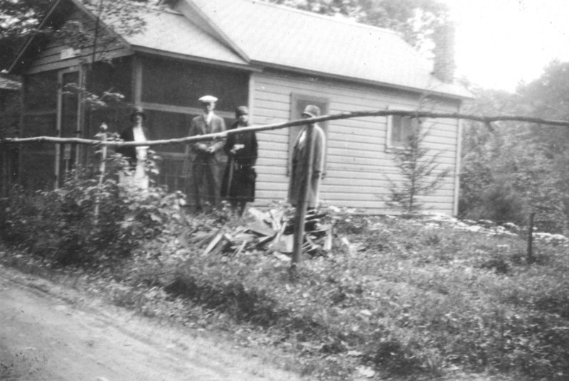"""This is Aunt Fanny Robert's """"shack"""". I'm assuming that it is perhaps an early version of the one on Genaganslet Creek by Greene, NY"""