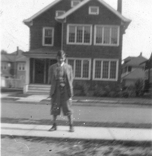 Allen Haden standing in front the empty lot at 66 Lathrop Ave.