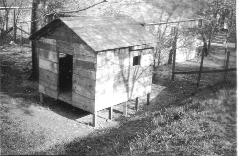 Hut in Fred Ogdens backyard