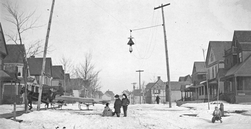Murray St, Binghamton, NY - probably between 1900 - 1920. Henry Marean, father of Henry Marean, and grandfather of Henry E. Marean, lived on this street