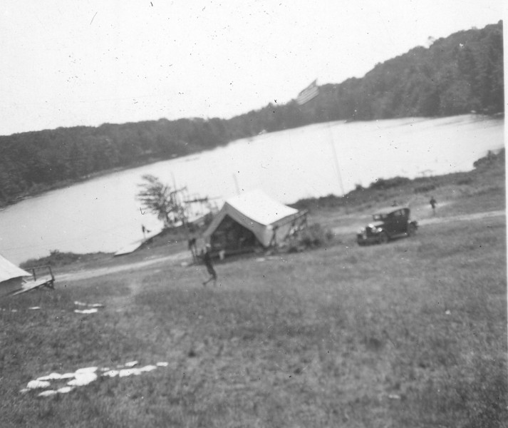 Noon at Camp Arrowhead - Binghamton YMCA in 1928. The camp was located close to Brackney, Pa, just south of the Pa/NY border. This camp later became a church camp. YMCA Camp Arrowhead later moved to Little Meadows, Pa.
