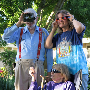 Watching solar eclipse at Judy's house