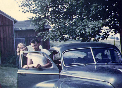 Mom & dad with first car