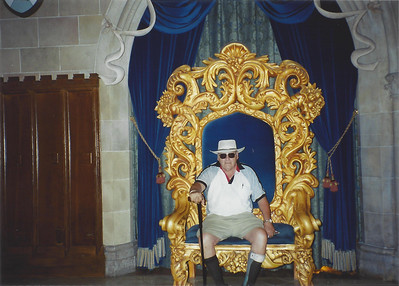 Dad found his chair!  The King's chair.
