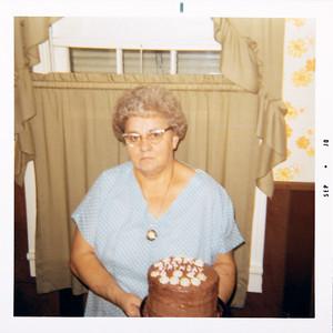 Grandma's cake for her Granddaughter's birthday (Lorie Ann, 6th, Sandra Lee, 8th).  8/8/70