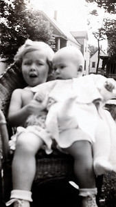 Zoe and brother Roger.