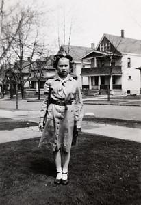 """Zoe Ellen, our Girl Scout - front lawn 1372 W 64th St."""