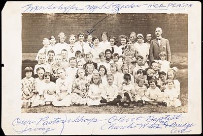 Josephine Rodgers bottom row, 4th from left to right.  Mrs Schaffer - Pastors Group, Olivet Baptist Church W 52nd & Bridge