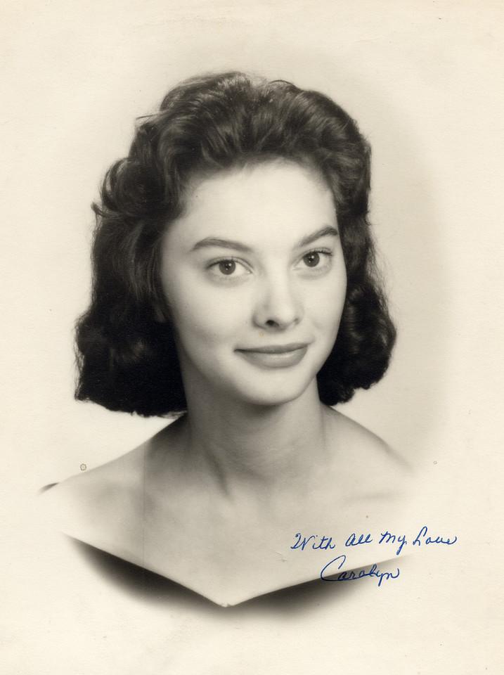 Mary Carolyn Mitchell senior high school portrait 1960 - shot in 1959.