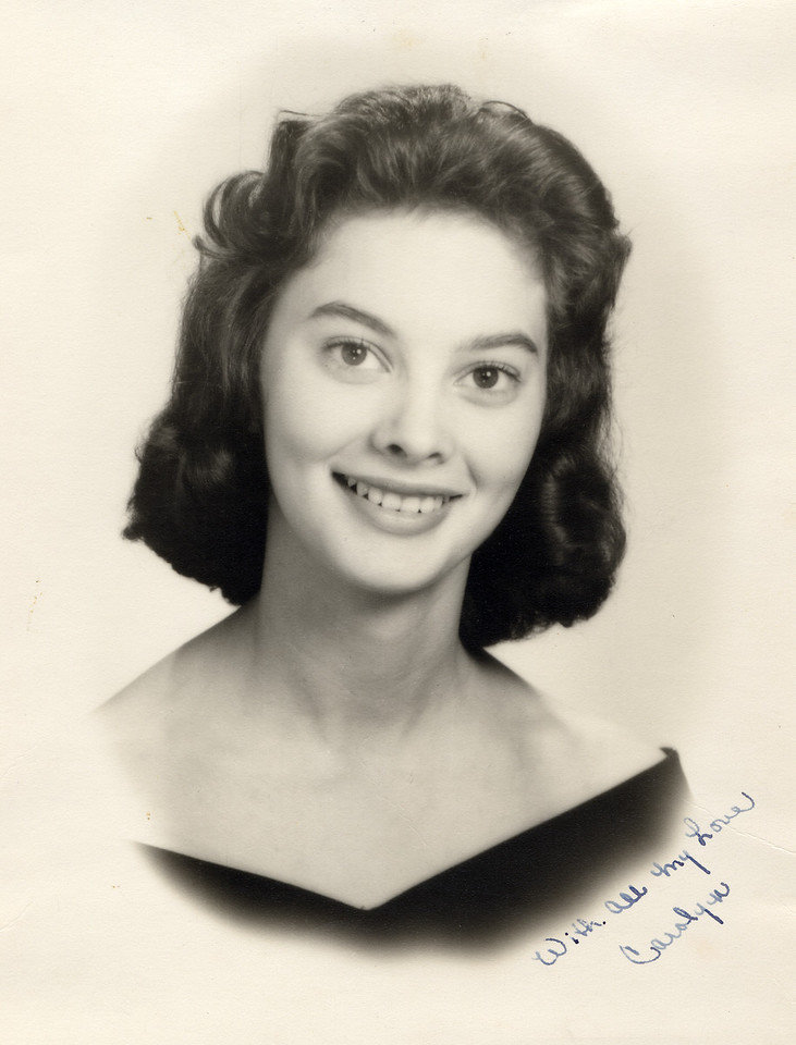 Mary Carolyn Mitchell Senior high school portrait 1960
