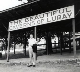Luray Caverns in Virginia - Our honeymoon, June, 1948 - Eddie (Elwin Edberg)