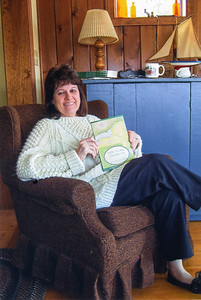 "Dorothy Blackman Feb 2008 with her book ""New York Patriots"""