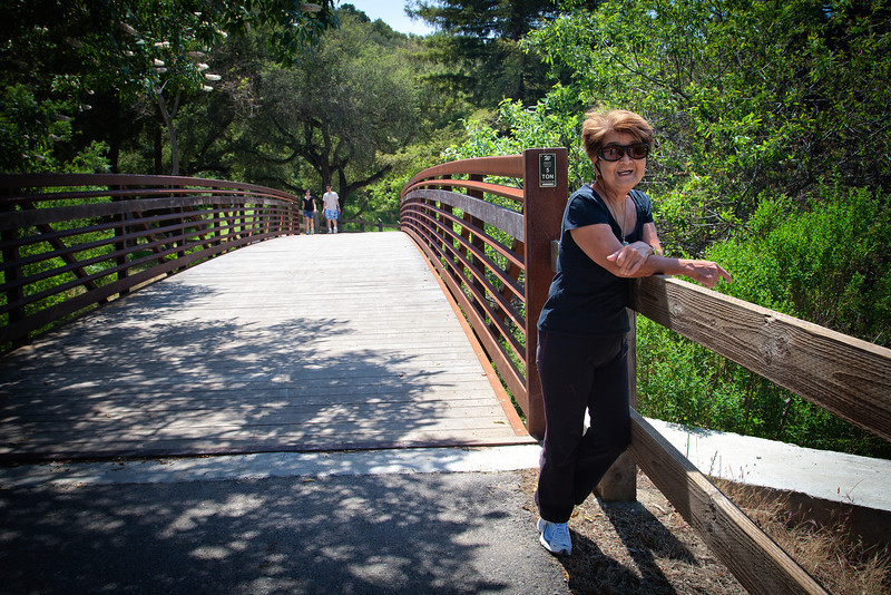 Mom and I went to Alum Rock on the first full day of her visit.