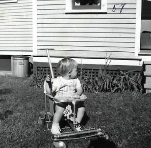 Gary, 8 Benson St, Jamestown, NY - back of house, 1957