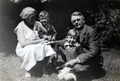 Grandma Miese, Bill, David, Grandpa Miese