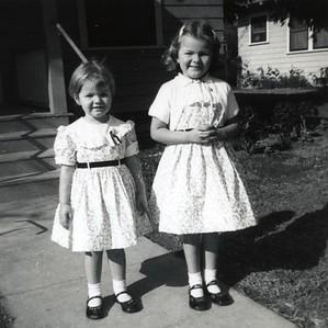 Kathy and Linda - Rancho, July 1955